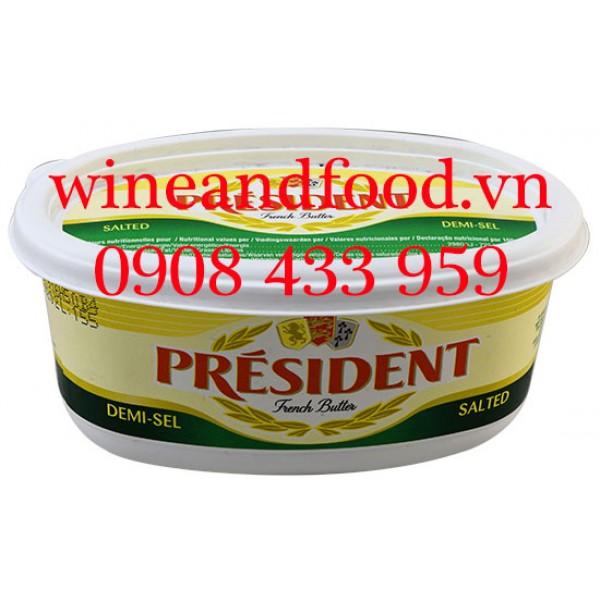 Bơ President Salted mặn hộp nhựa 250g