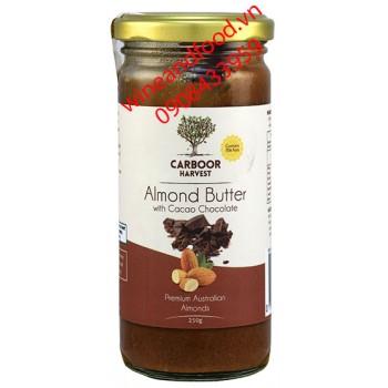 Bơ socola hạnh nhân Carboor Harvest 250g