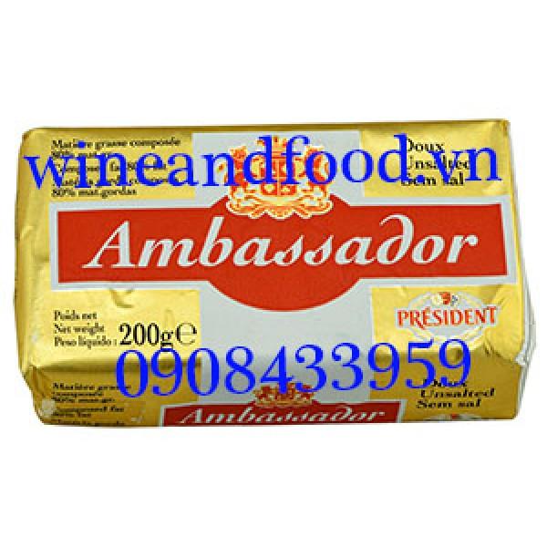 Bơ thực vật lạt Ambassador President 200g