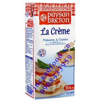 Kem sữa Whispping Cream Paysan Breton 1l