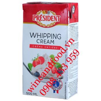 Kem tươi Whipping Cream Président 500ml