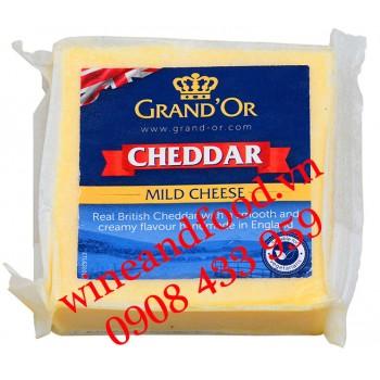 Phô mai Cheddar Grand'or trắng 200g