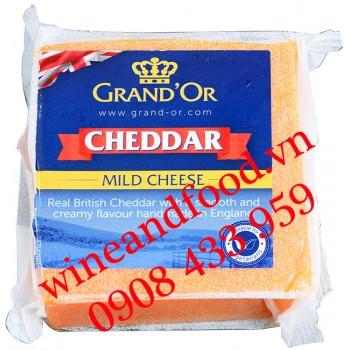 Phô mai Cheddar GranD'or đỏ 200g