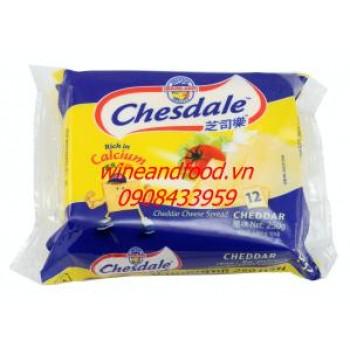 Phô mai lát Cheddar Chesdale 250g