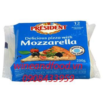 Phô mai Mozzarella President 12 miếng