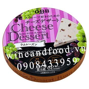 Phô mai Nhật QBB Cheese Dessert nho rum 90g