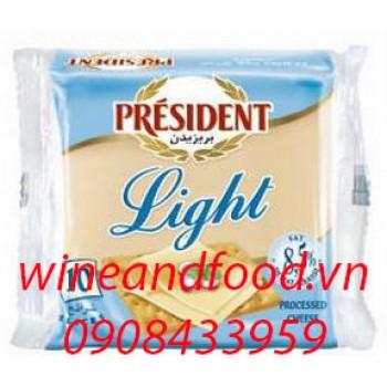 Phô mai President Light 10 miếng