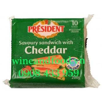 Phô mai President savoury sandwich with cheddar 200g
