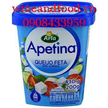 Phô mai trắng cắt hạt lựu Apetina Arla 430g