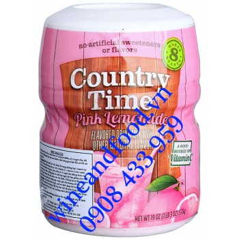 Bột trái cây Country Time Pink Lemonade hương Chanh 538g