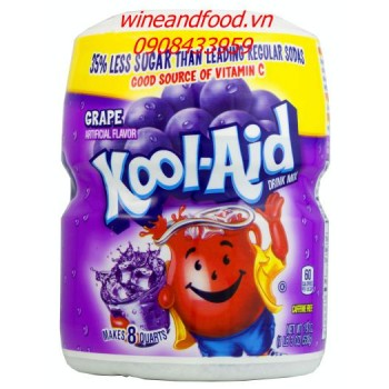 Bột trái cây giải khát Kool Aid nho 538g