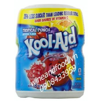 Bột trái cây giải khát Kool Aid Tropical Punch 538g