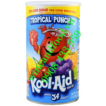 Bột trái cây giải khát Tropical Punch Kool Aid hũ 2kg33