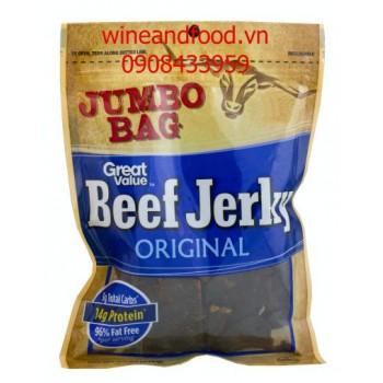 Khô bò Beef Jerky Original Jumbo Bag 176g