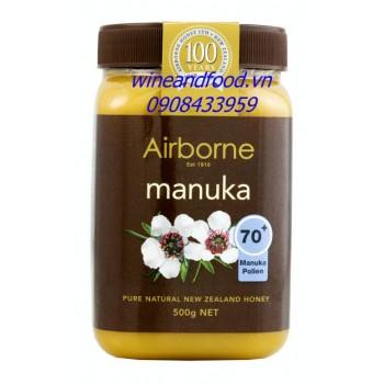 Mật ong Manuka Airborne 70+ 500g