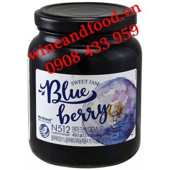 Mứt Blue Berry Nho Đen N512 No Brand hũ 450g