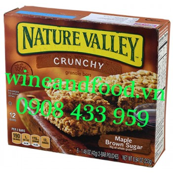 Bánh ngũ cốc ăn sáng Maple Brown Sugar Nature Valley 253g