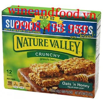 Bánh ngũ cốc ăn sáng Oats'n Honey Nature Valley 253g