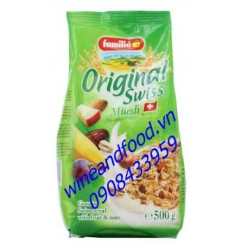 Bột ngũ cốc trái cây không đường Familia 500g