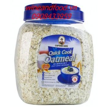 Bột Yến Mạch nấu nhanh Oatmeal Captain Oats 1kg