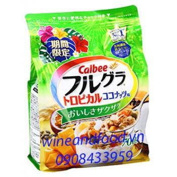 Ngũ cốc Calbee Xoài Chanh Dây Đu Đủ 700g