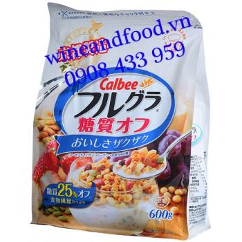 Ngũ cốc trái cây Calbee ít đường 600g