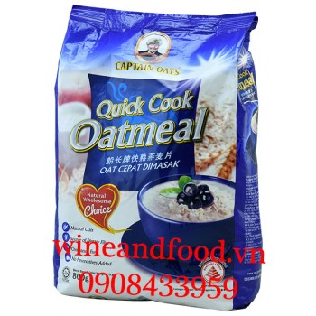 Yến Mạch Quick Cook Oatmeal Captain Oats 800g