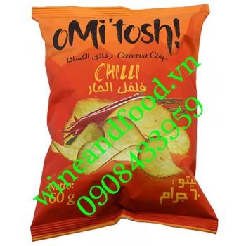 Bánh khoai mì chiên Omitosh vị cay 60g