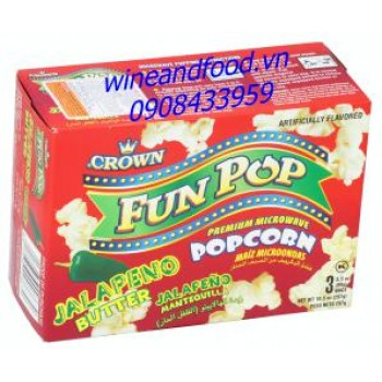 Bắp rang bơ cay Fun Pop Crown 297g