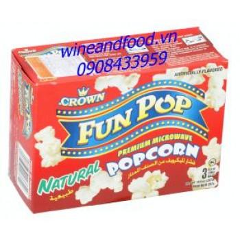 Bắp rang bơ Fun Pop Crown tự nhiên 297g
