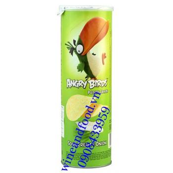 Khoai tây chiên Angry Birds kem chua hành lon 160g