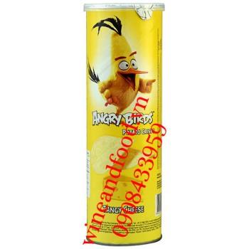 Khoai tây chiên Angy Birds Tangy cheese lon 160g