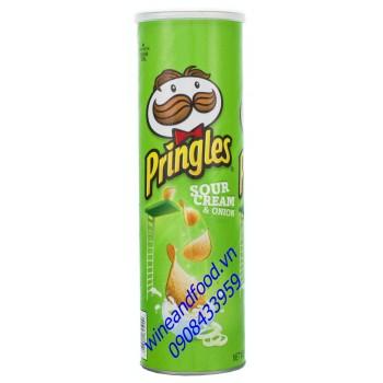 Khoai tây chiên Pringles sour cream onion 169g