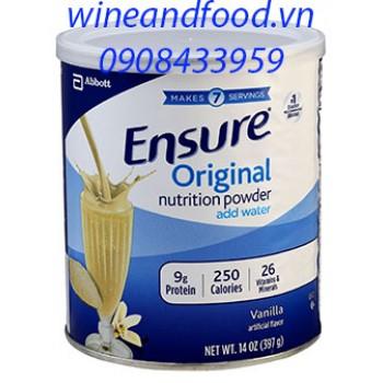 Sữa bột Ensure Original hương vani nhập từ Mỹ 397g