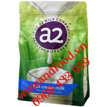 Sữa bột full cream A2 hight Calcium bịch 1kg