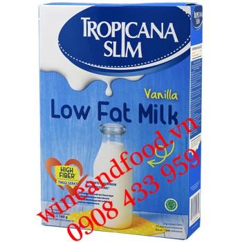 Sữa bột ít béo Vanilla Tropicana Slim 180g