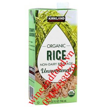 Sữa gạo Kirkland Organic không đường 946ml