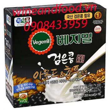 Sữa óc chó hạnh nhân đậu đen Vegemil ít đường 16 hộp