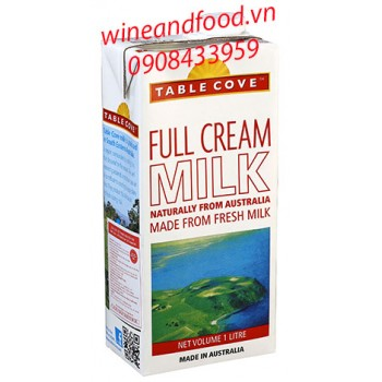 Sữa tươi nguyên kem Table Cove Úc 1l
