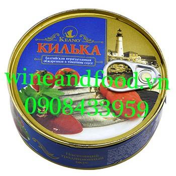 Cá đối chiên sốt cà chua Nga 240g