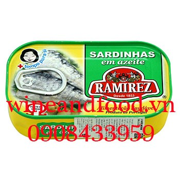 Cá mòi ngâm dầu oliu Ramirez 125g