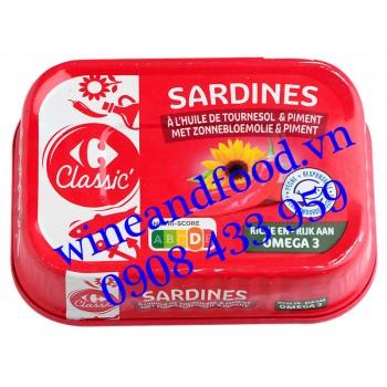 Cá Mòi Sardines dầu Hướng Dương sốt Ớt Classic 135g