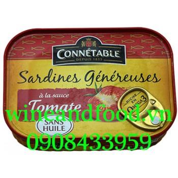Cá mòi sốt cà chua đóng hộp Connetable 140g