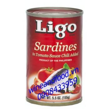 Cá mòi sốt cà chua ớt Ligo 155g