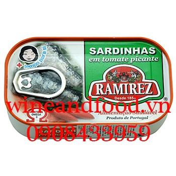 Cá mòi sốt cà vị cay Ramirez 125g