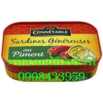 Cá mòi sốt ớt đóng hộp Connetable 140g
