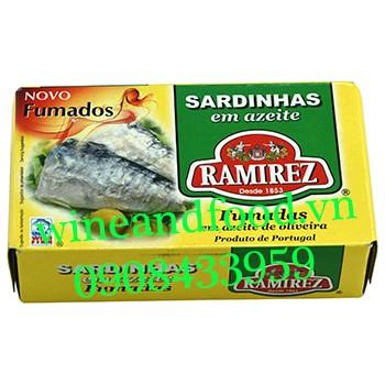 Cá mòi xông khói ngâm dầu oliu Ramirez 125g