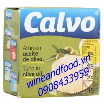 Cá ngừ ngâm dầu oliu Calvo 80g