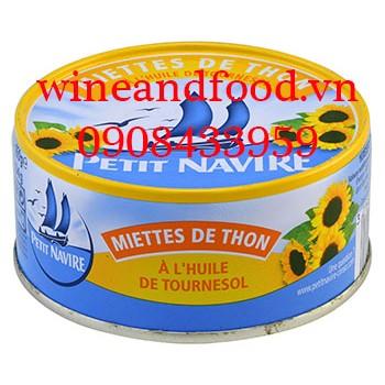 Cá ngừ vụn ngâm dầu hướng dương Petit Navire 160g