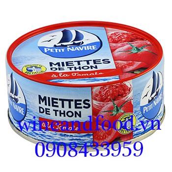 Cá ngừ vụn sốt cà chua đóng hộp Petit Navire 160g